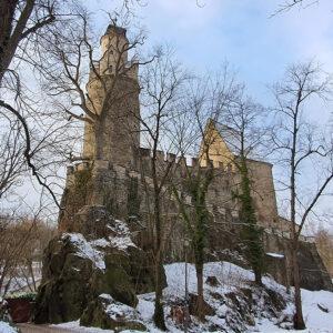 Die Oberburg der Burg Stein, gebaut um 1200. Foto: Susann Gramm, 2021